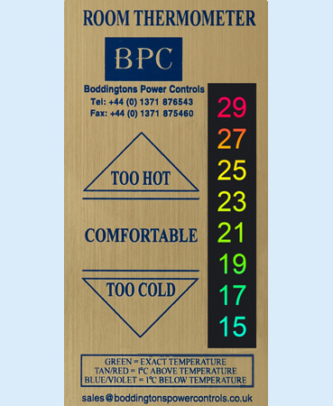 seventh slide - B34/GR1 Deluxe Room Thermometer